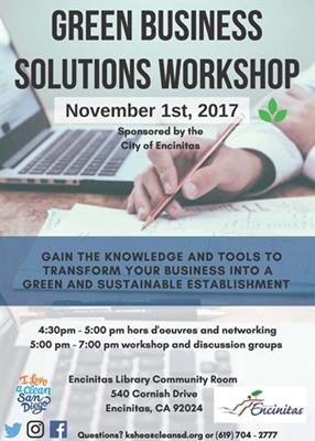 Green Business Solutions Workshop Planned