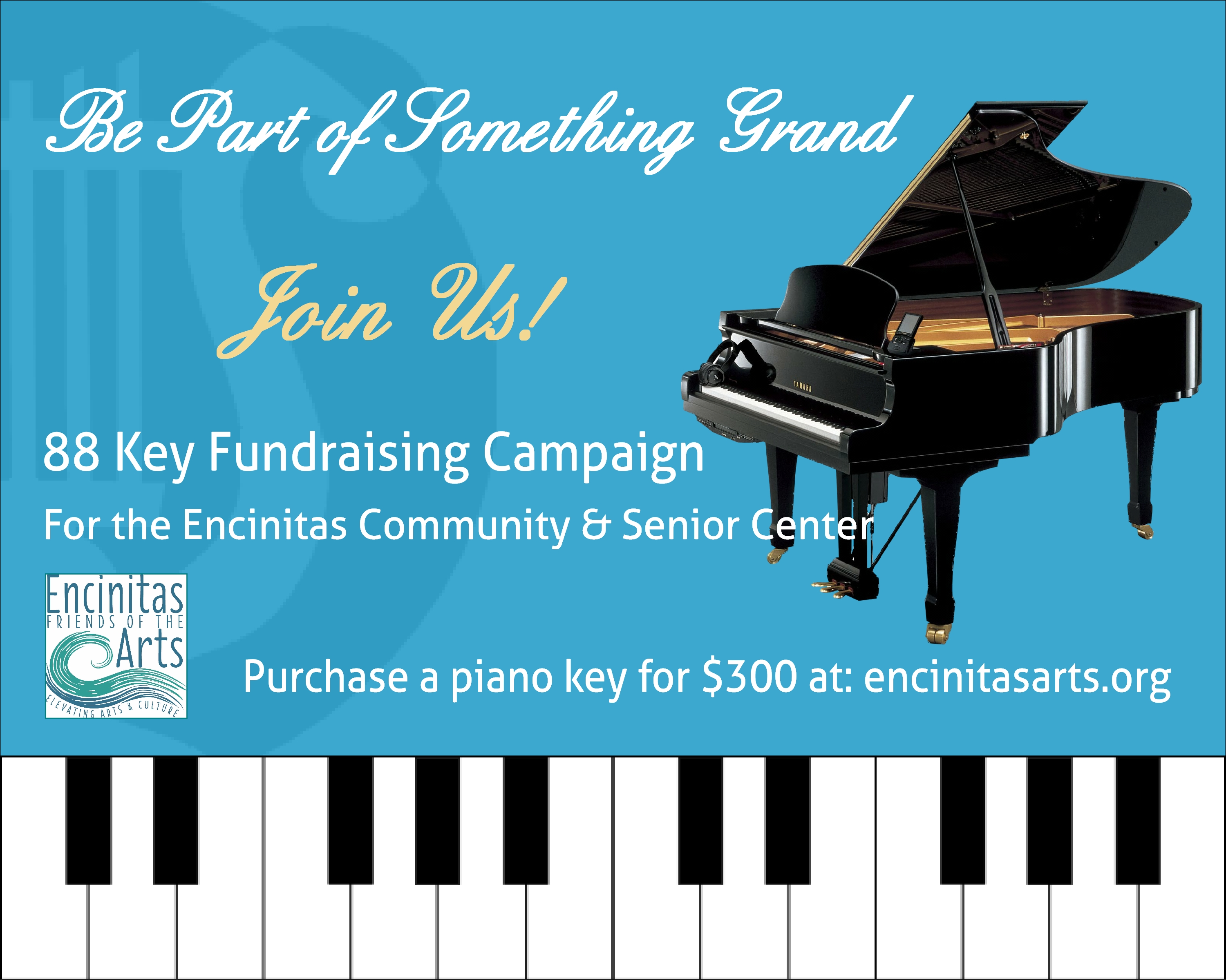 News Release: Encinitas Friends of the Arts Launches Piano Campaign