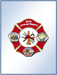 Cover page of 2018 Annual Report with Fire Department Logos