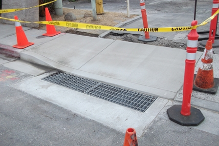 new stormdrain installation